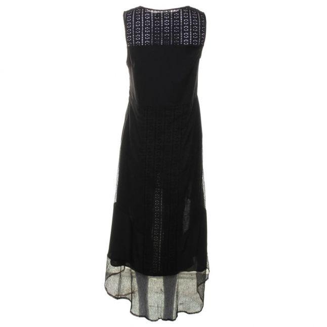 Womens Jet Black Abstract Maxi Dress