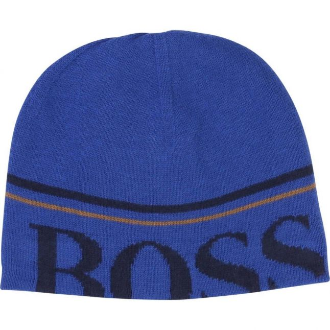 Boys Blue Branded Beanie Hat