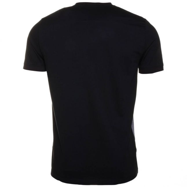 Mens French Navy Twill Jersey Panel S/s Tee Shirt