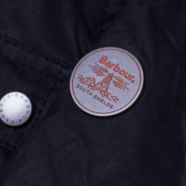 Girls Navy Carribena Waxed Jacket