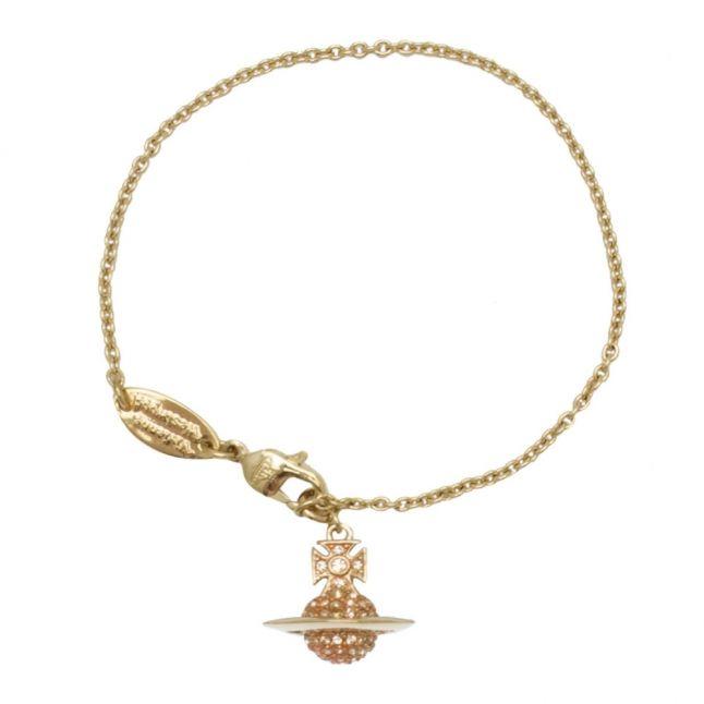 Womens Gold/Light Peach Lena Orb Bracelet