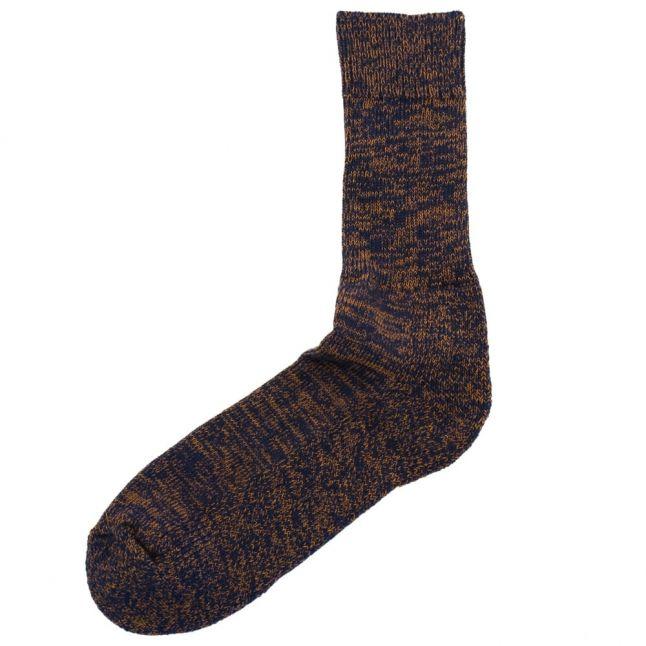 Lifestyle Mens Blue & Copper Shotley Socks