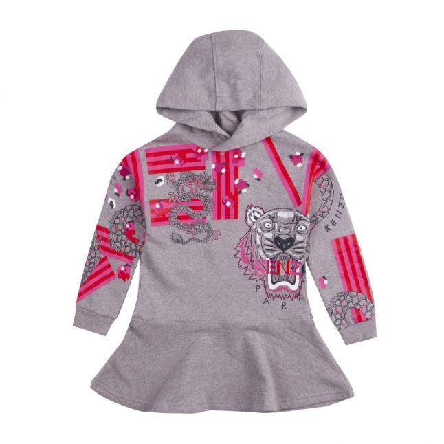 Junior Marl Grey Gayane Hooded Sweater Dress