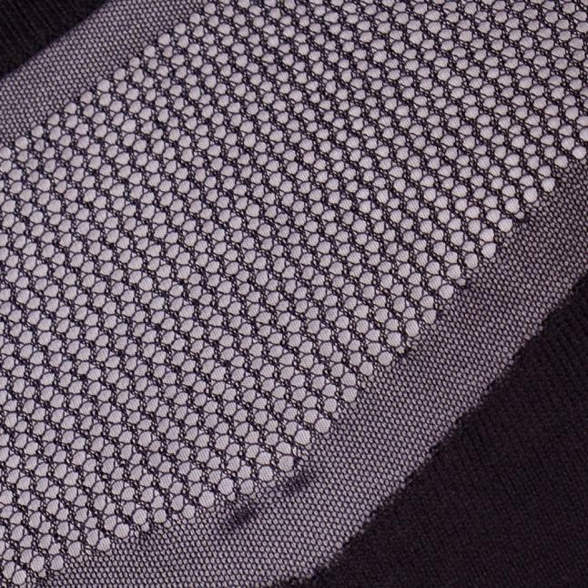 Womens Navy Mesh Detail Knitted Jumper