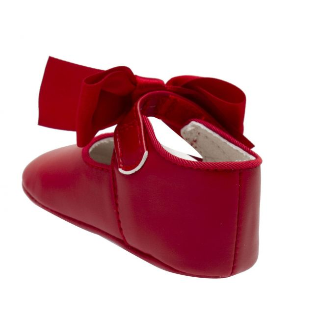 Baby Red Satin Bow Shoes (15-19)