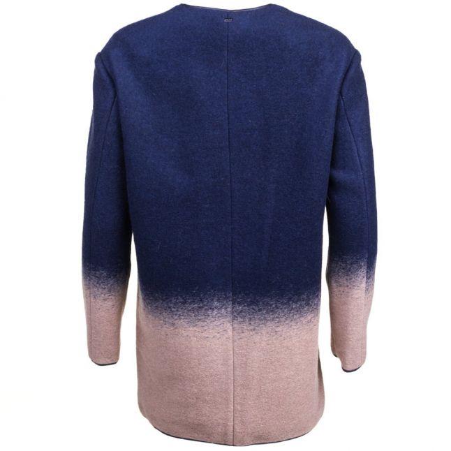 Womens Blue Degrade Effect Coat