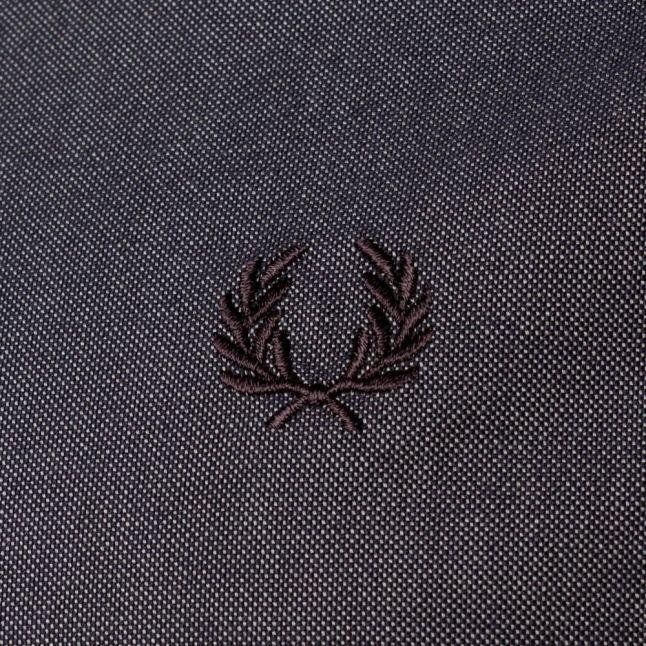 Mens Dark Carbon Flat Knit Collar S/s Shirt