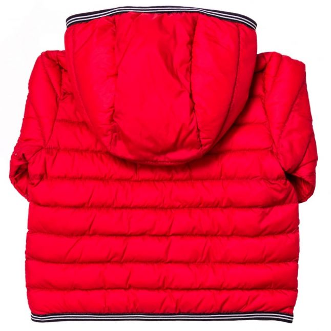 Baby Red Branded Hooded Puffer Jacket