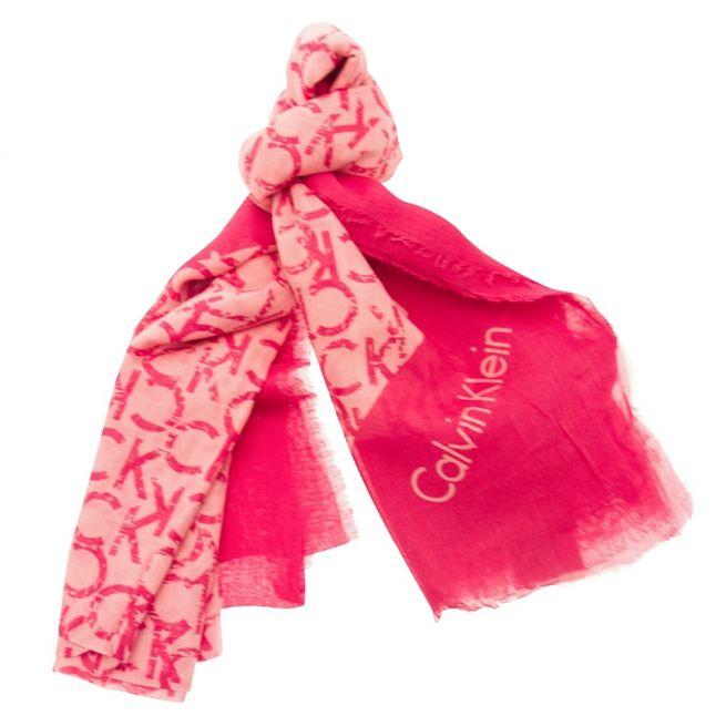 Bright Rose CK Allover Logo Scarf