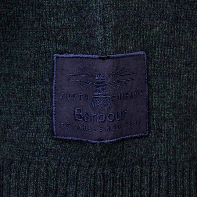 Heritage Mens Forest Mix Staple Lambswool Crew Jumper
