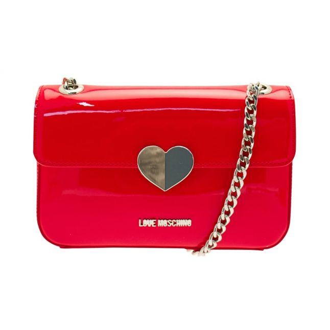 Womens Red Chain Strap Shoulder Bag