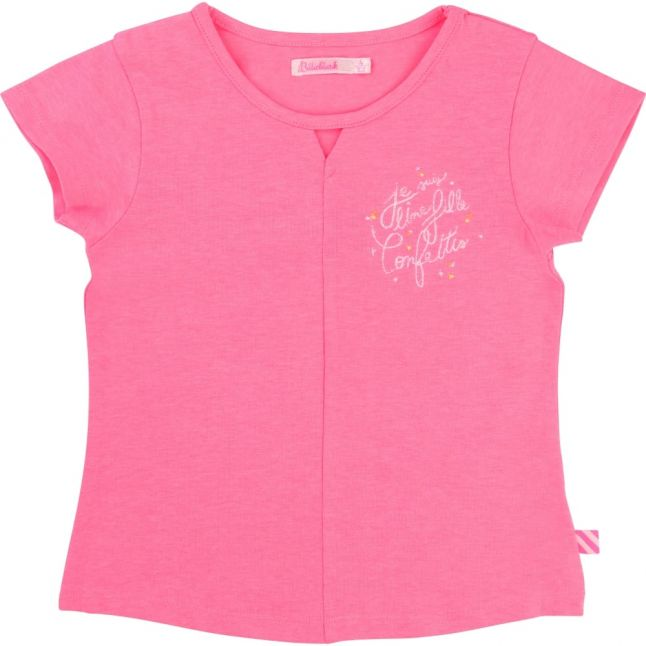 Girls Pink Confetti S/s Tee Shirt