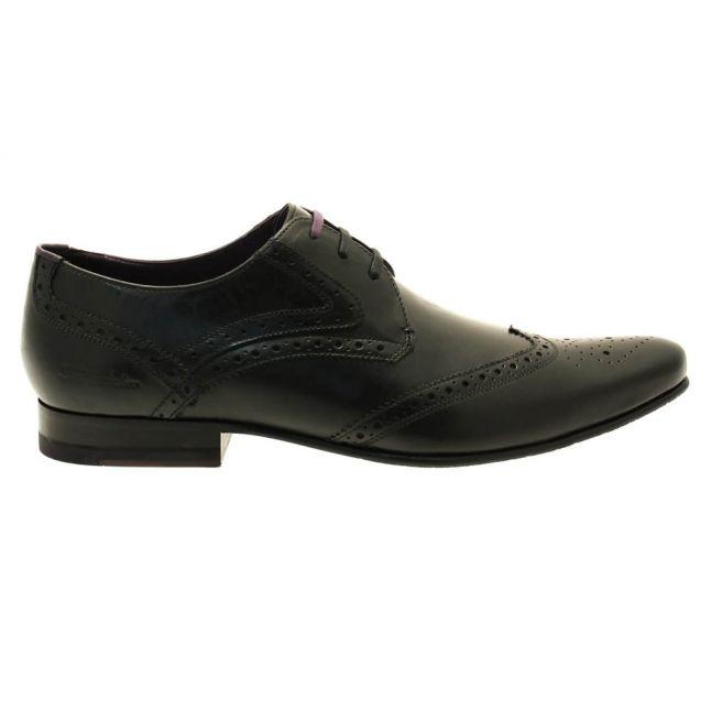 Mens Black Hann2 Shoes Leather Derby Brogues