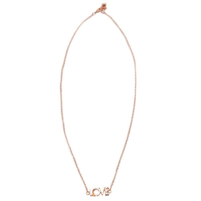 Womens Rose Gold Lovelyn Love Kiss Necklace