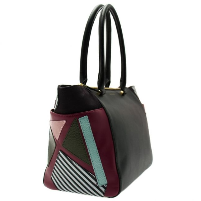 Womens Black Becca Large Leather Tote Bag