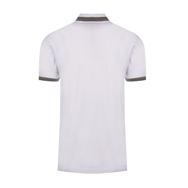 Casual Mens White Ptrans Tipped S/s Polo Shirt