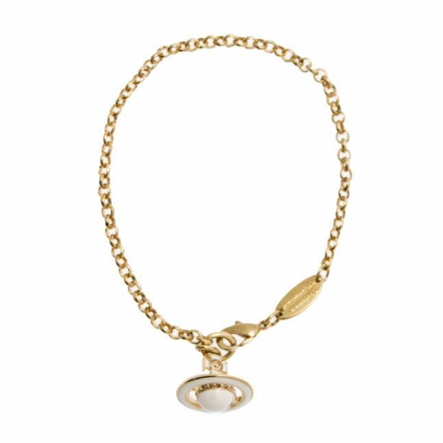 Womens Gold & White Iona Orb Bracelet