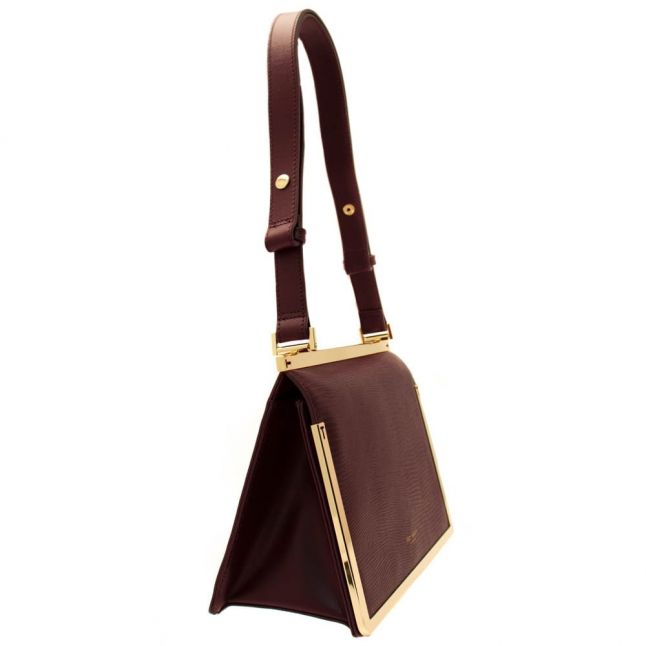 Womens Maroon Mikaila Exotic Tote Bag