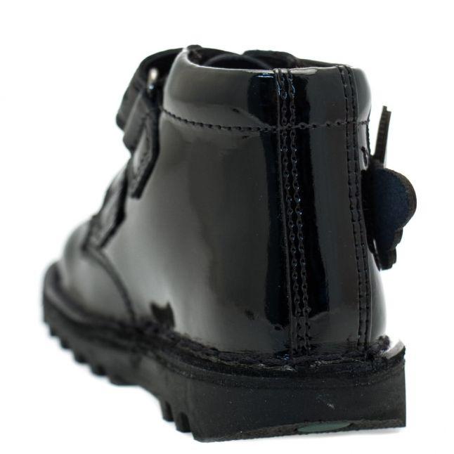 Infant Black Patent Leather Kick Flutter (5-12)