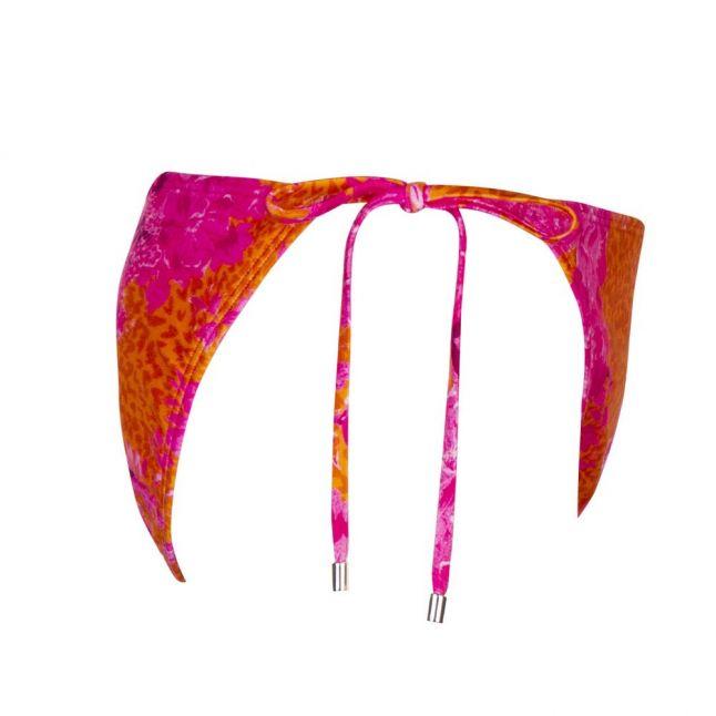 Womens Bright Pink Rilliey Tie Side Bikini Pants