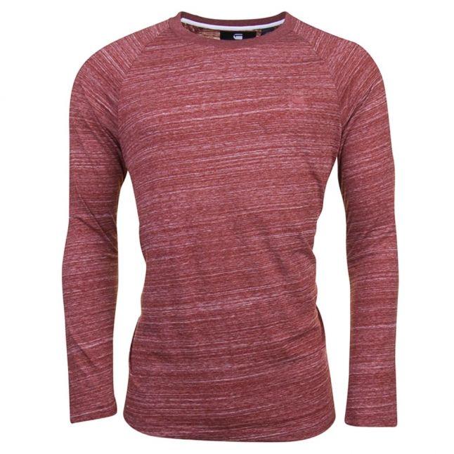 Mens Dark Auburn Classic Raglan L/s Tee Shirt