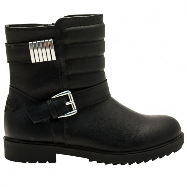 Girls Black Margaret Boots (28-37)