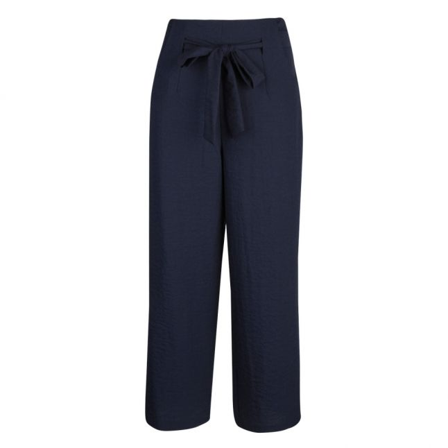 Womens Navy Vilinea High Waisted 7/8 Wide Pants