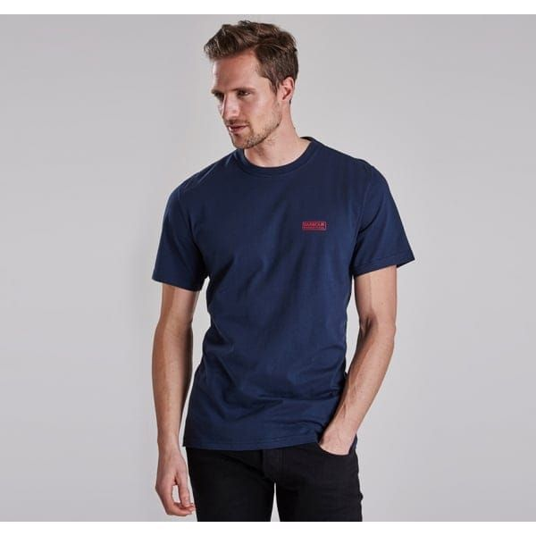 International Mens Navy International Small Logo S/s Tee Shirt