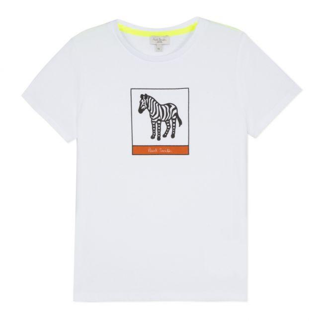 Boys White Victorio Zebra S/s T Shirt