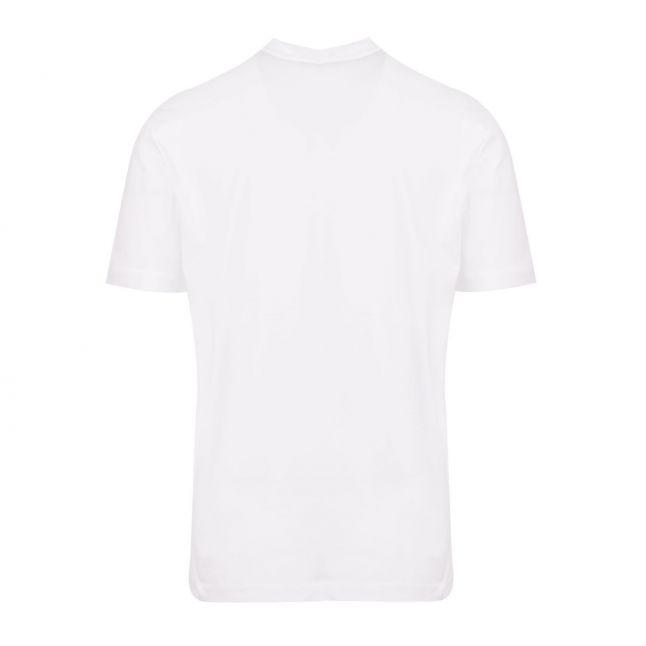 Calvin Klein Mens Bright White Split Logo S/s T Shirt