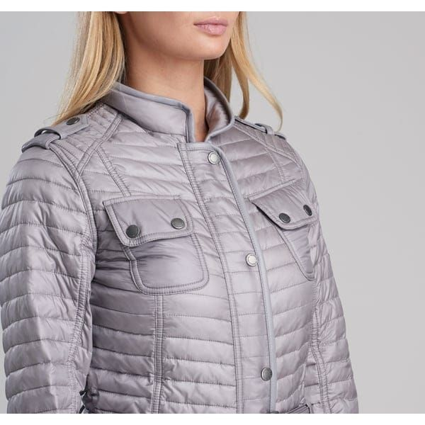 International Womens Opal Grey Leaf Spring Quilted Jacket