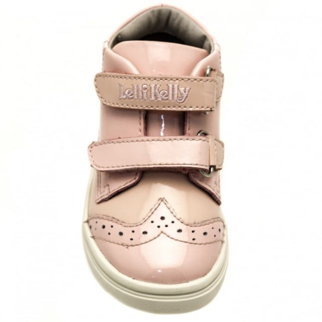 Baby Pink Patent Silvia Brogue Trainers (21-26)