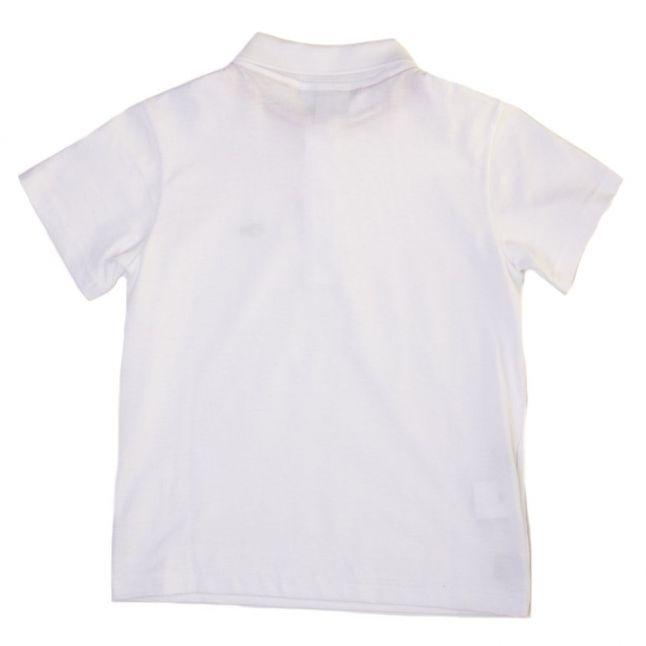 Boys White Jersey S/s Polo Shirt