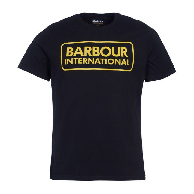 Mens Black/Yellow Essential Large Logo S/s T Shirt