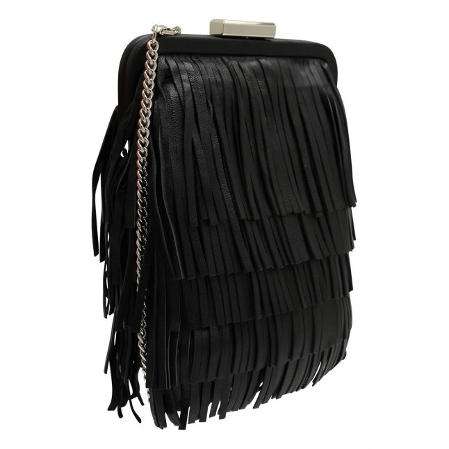 Womens Black Katilan Tassel Crossbody Bag