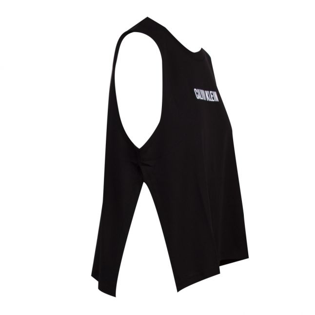 Womens Black Logo Tank Top Cover Up