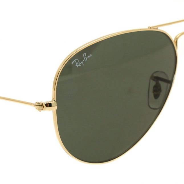 Gold RB3025 Aviator Large Sunglasses