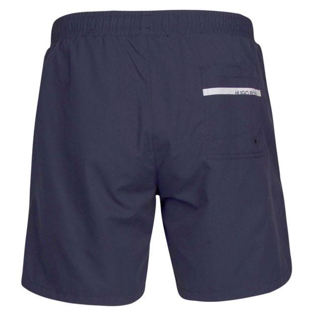 Mens Navy Dolphin Side Logo Swim Shorts