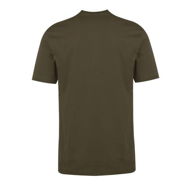 Calvin Klein Mens Dark Olive Split Logo S/s T Shirt