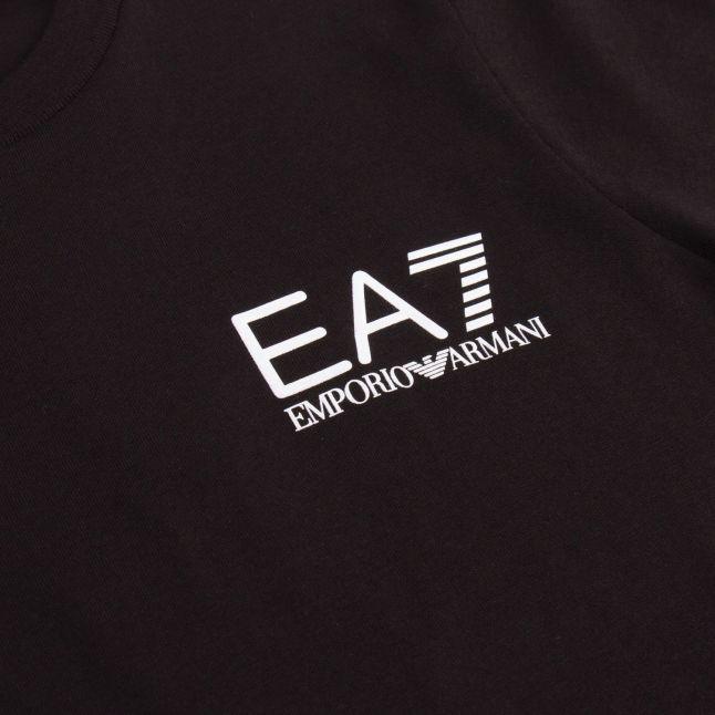 Boys Black Basic Small Logo S/s T Shirt