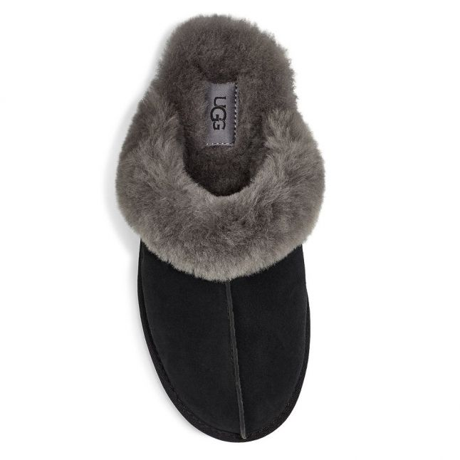 Scuffette II Black/Grey Womens Slippers