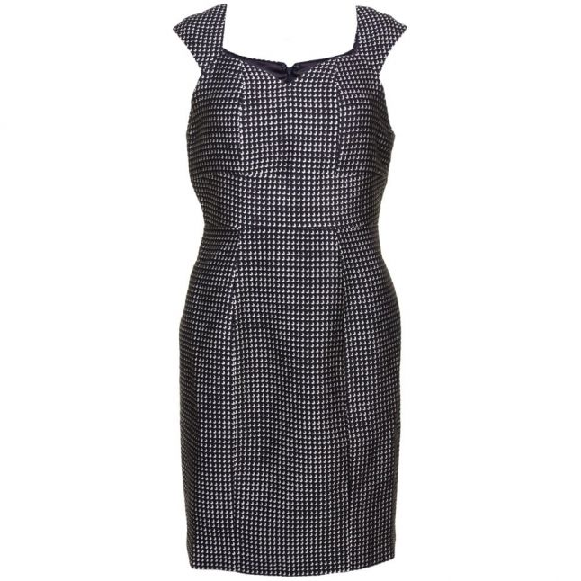 Womens Black & Gold Leonie Fitted Dress