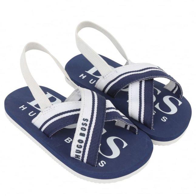 Baby Blue Branded Flip Flops (17-25)