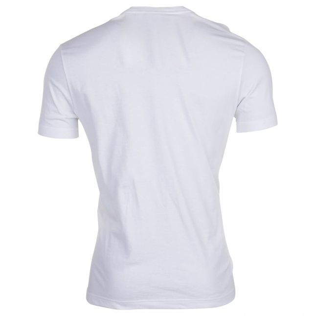 Mens White Chest Logo Regular Fit S/s Tee Shirt