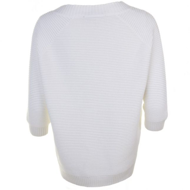 Womens Winter White Mozart Ripple Knitted Jumper