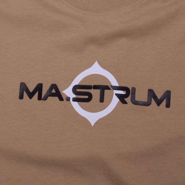 Mens Sand Logo Print S/s T Shirt