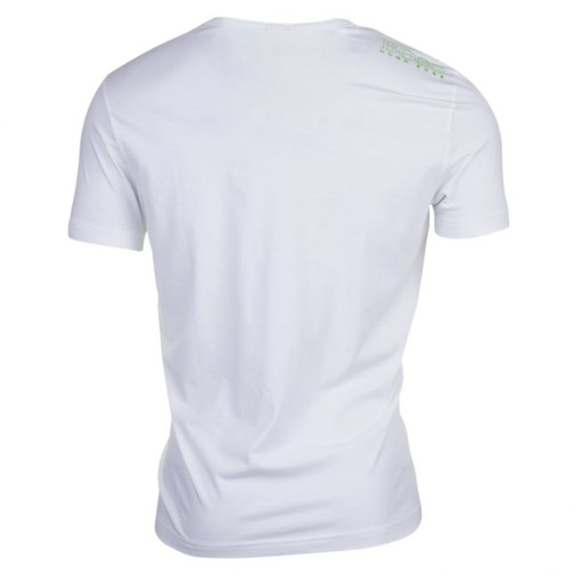 Athleisure Mens White Tee Small Logo S/s T Shirt