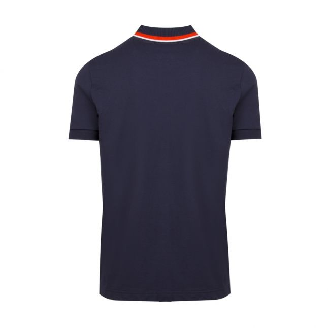 Athleisure Mens Navy Paddy 4 Trim Regular Fit S/s Polo Shirt