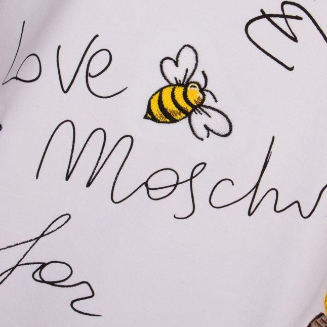 Love Mochino Womens White I Love You Sweat
