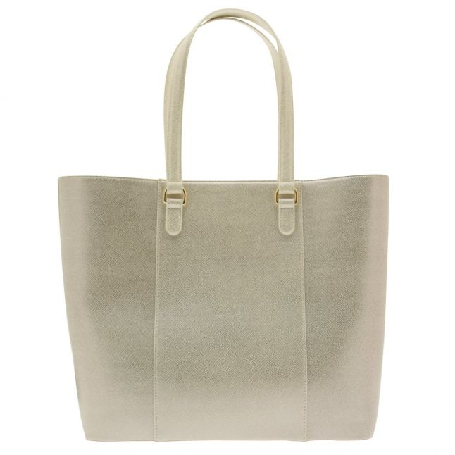 Womens Platinum Crosshatch Shopper Bag